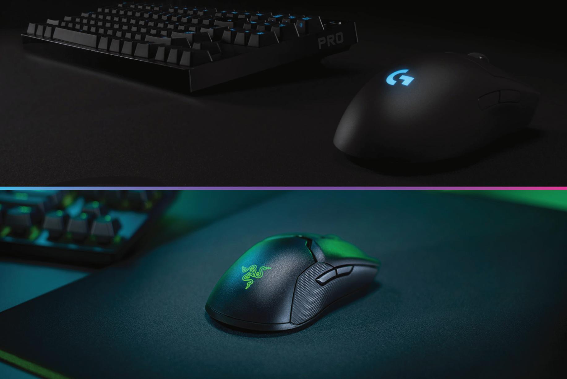 razer viper ultimate vs g pro wireless mouse comparison